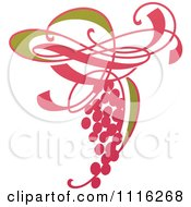 Clipart Purple Grapes And Leaves Wine Icon 2 Royalty Free Vector Illustration
