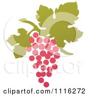 Clipart Purple Grapes And Leaves Wine Icon 11 Royalty Free Vector Illustration by elena