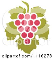 Clipart Purple Grapes And Leaves Wine Icon 8 Royalty Free Vector Illustration by elena
