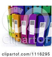 Clipart 3d Colorful Office Organizer Ring Binders 2 Royalty Free CGI Illustration