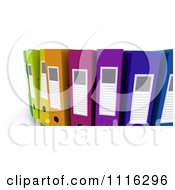 Clipart 3d Colorful Office Organizer Ring Binders 1 Royalty Free CGI Illustration
