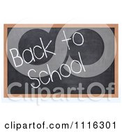 Clipart 3d Black Board With Back To School Text Royalty Free CGI Illustration
