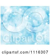 Clipart Blue Background With Snowflakes And Sparkles Royalty Free CGI Illustration