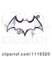 Retro Bat Frame With Pixels And Circles