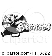 Clipart Black And White Broncos Cheerleader Design Royalty Free Vector Illustration by Johnny Sajem