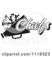 Clipart Black And White Chiefs Cheerleader Design Royalty Free Vector Illustration by Johnny Sajem