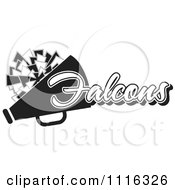 Clipart Black And White Falcons Cheerleader Design Royalty Free Vector Illustration by Johnny Sajem