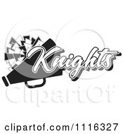 Clipart Black And White Knights Cheerleader Design Royalty Free Vector Illustration by Johnny Sajem
