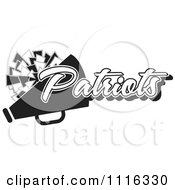 Clipart Black And White Patriots Cheerleader Design Royalty Free Vector Illustration by Johnny Sajem