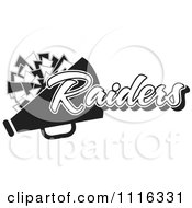 Clipart Black And White Raiders Cheerleader Design Royalty Free Vector Illustration by Johnny Sajem