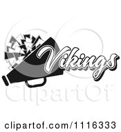 Clipart Black And White Vikings Cheerleader Design Royalty Free Vector Illustration