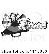 Clipart Black And White Rams Cheerleader Design Royalty Free Vector Illustration by Johnny Sajem
