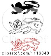 Clipart Heraldic Lions Royalty Free Vector Illustration
