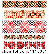 Clipart Native American Style Borders 2 Royalty Free Vector Illustration by Vector Tradition SM