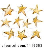 Shiny Golden Star Icons