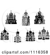 Clipart Black And White Church Buildings Royalty Free Vector Illustration