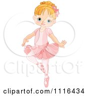 Clipart Cute Blond Girl Danncing Ballet In A Tutu Royalty Free Vector Illustration by Pushkin