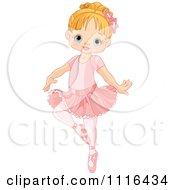 Cute Blond Girl Danncing Ballet In A Tutu