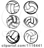 Clipart Black And White Volleyball Designs Royalty Free Vector Illustration by Chromaco