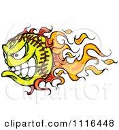 Demonic Flaming Tennis Ball Mascot