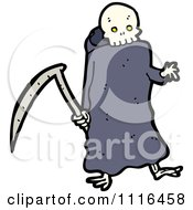 Clipart Halloween Grim Reaper And Scythe Royalty Free Vector Illustration
