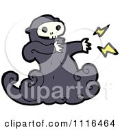 Clipart Halloween Spook Skull Ghost 1 Royalty Free Vector Illustration by lineartestpilot
