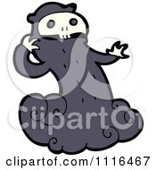 Clipart Halloween Spook Skull Ghost 3 Royalty Free Vector Illustration by lineartestpilot