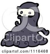 Clipart Halloween Spook Skull Ghost 4 Royalty Free Vector Illustration by lineartestpilot