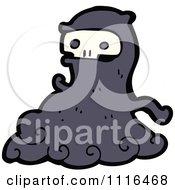 Clipart Halloween Spook Skull Ghost 4 Royalty Free Vector Illustration