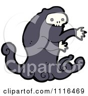 Clipart Halloween Spook Skull Ghost 5 Royalty Free Vector Illustration by lineartestpilot