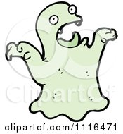 Clipart Green Halloween Spook Ghost 9 Royalty Free Vector Illustration