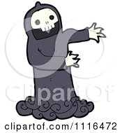 Clipart Halloween Spook Skull Ghost 6 - Royalty Free Vector Illustration by lineartestpilot #COLLC1116472-0180
