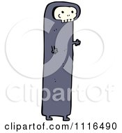 Clipart Halloween Spook Skull Ghost 10 Royalty Free Vector Illustration