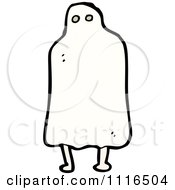 Clipart Halloween Sheet Ghost 1 Royalty Free Vector Illustration by lineartestpilot