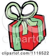 Clipart Christmas Present Gift Box 1 Royalty Free Vector Illustration