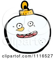 Clipart Christmas Snowman Face Bauble Ornament 1 Royalty Free Vector Illustration