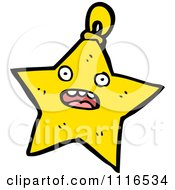 Clipart Star Christmas Bauble Ornament Royalty Free Vector Illustration by lineartestpilot