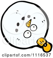 Clipart Christmas Snowman Face Bauble Ornament 2 Royalty Free Vector Illustration by lineartestpilot