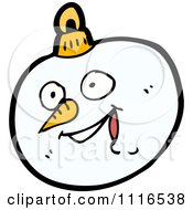 Clipart Christmas Snowman Face Bauble Ornament 3 Royalty Free Vector Illustration