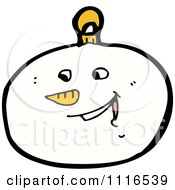 Clipart Christmas Snowman Face Bauble Ornament 4 Royalty Free Vector Illustration