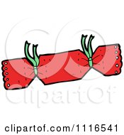 Clipart Red Christmas Cracker 6 Royalty Free Vector Illustration by lineartestpilot