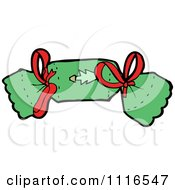 Clipart Green Christmas Cracker 1 Royalty Free Vector Illustration by lineartestpilot