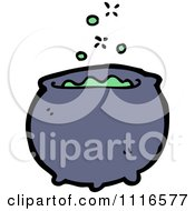 Clipart Boiling Witch Cauldron 1 Royalty Free Vector Illustration