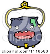 Clipart Witch Cauldron Character Royalty Free Vector Illustration