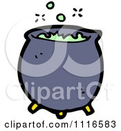 Clipart Boiling Witch Cauldron 2 Royalty Free Vector Illustration