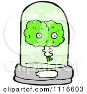 Clipart Green Brain Floating In A Specimen Jar 1 Royalty Free Vector Illustration by lineartestpilot
