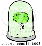 Clipart Green Brain Floating In A Specimen Jar 3 Royalty Free Vector Illustration by lineartestpilot
