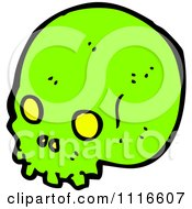 Clipart Neon Green Skull Royalty Free Vector Illustration