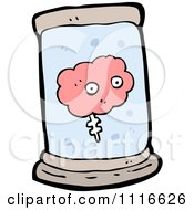 Clipart Pink Brain Floating In A Specimen Jar 1 Royalty Free Vector Illustration by lineartestpilot