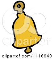 Clipart Yellow Christmas Bell 3 Royalty Free Vector Illustration by lineartestpilot